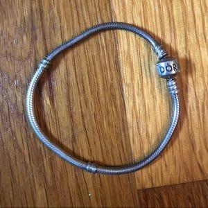 Authentic Pandora Classic Clasp Silver Bracelet